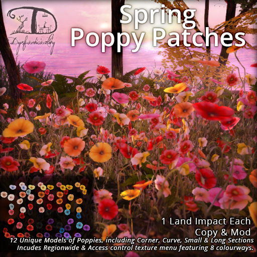 Spring Poppy Patches for FLF!