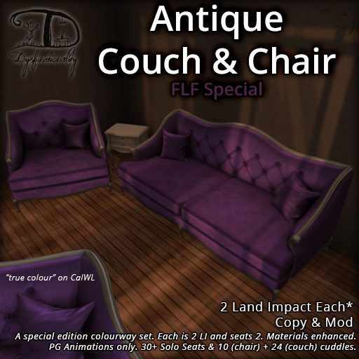 FLF Antique Couch & Chair Set